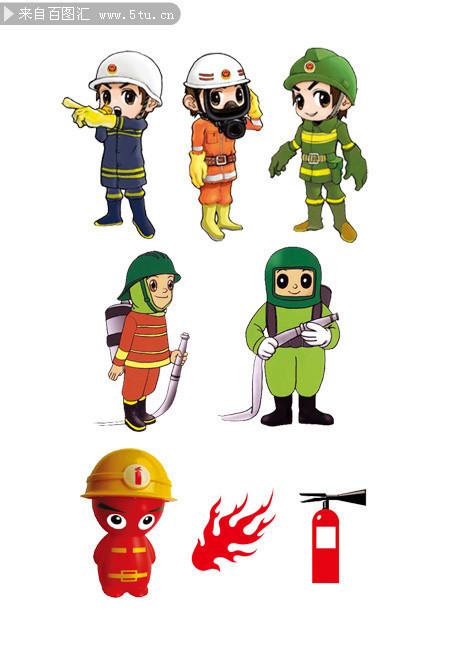 表情 卡通消防员简笔画 消防员救火简笔画 新闻图片网 表情
