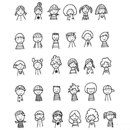 表情 手绘表情简笔画素材大全,绘画图片,儿童文艺 绘艺素材网 表情
