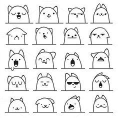 表情 手帐 简笔画 花瓣网 陪你做生活的设计师 通形象任意  表情