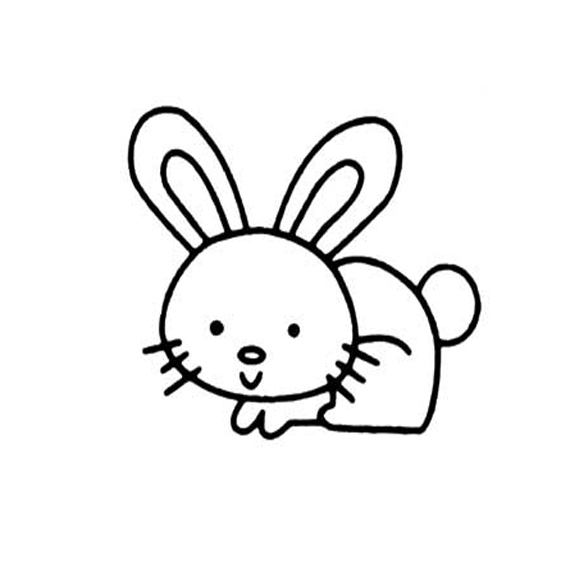 表情 兔子简笔画彩色 兔子简笔画彩色专题 电脑教程网 表情