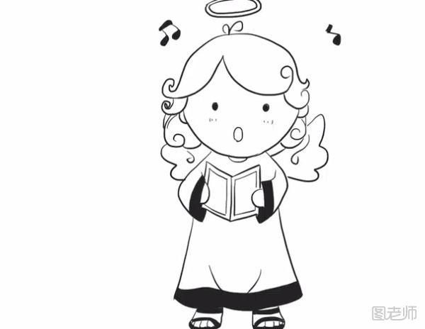 表情 图 可爱的天使简笔画教程可爱的天使简笔画怎么画 图老师 表情
