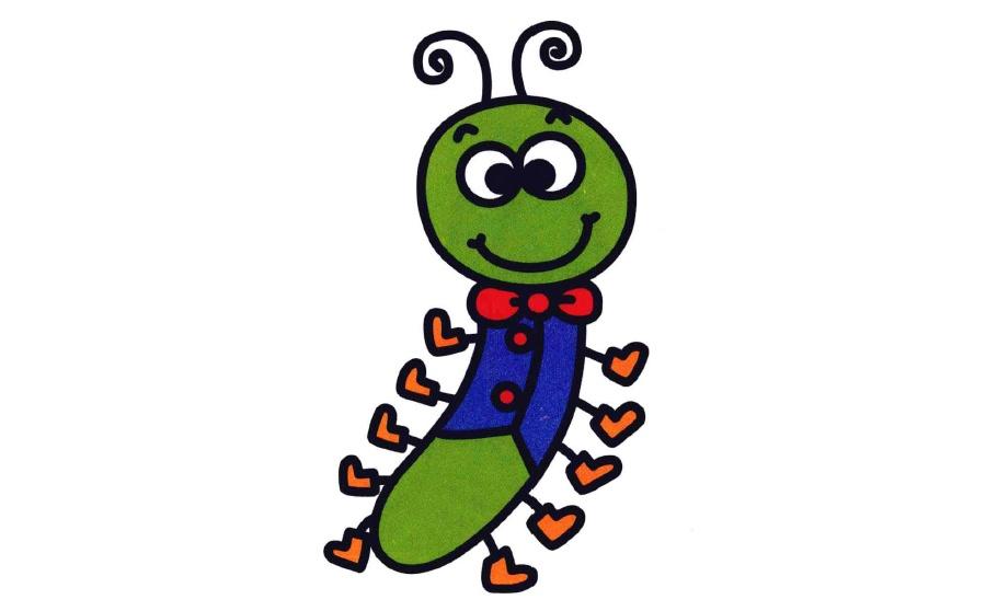 表情 穿西服的小毛毛虫简笔画 27270儿童画 表情