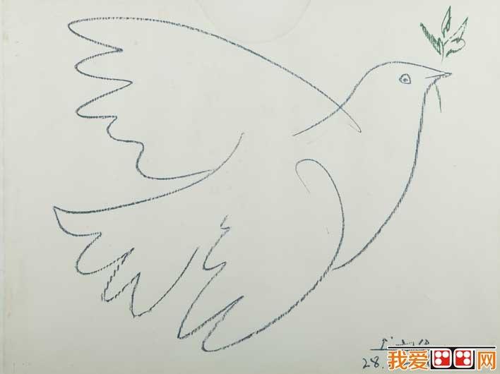 表情 毕加索 和平鸽 毕加索12副和平鸽简笔画原图赏析 图片 我爱画画网 我  表情