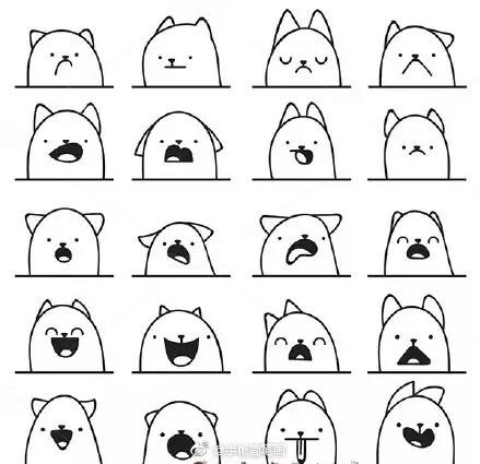 表情 手帐简笔画素材 表情包画法大全 表情