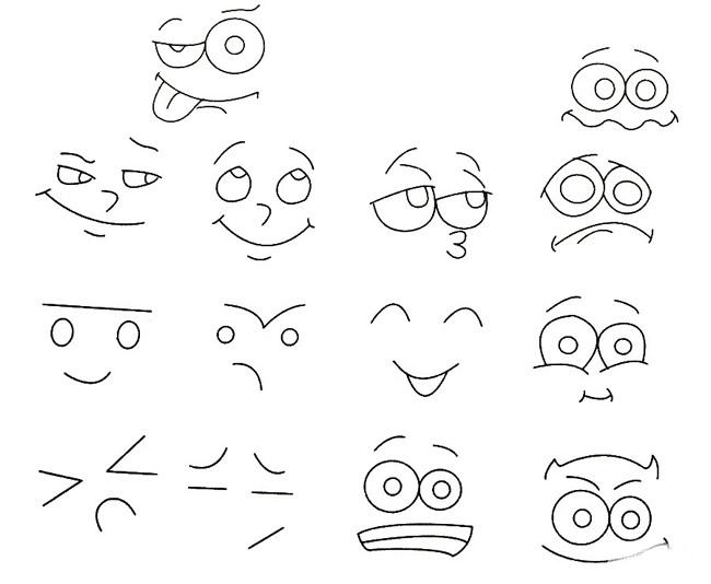 表情 人物表情简笔画 人物简笔画 1meishi 表情