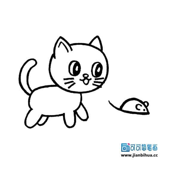 表情 猫的简笔画 可可 表情