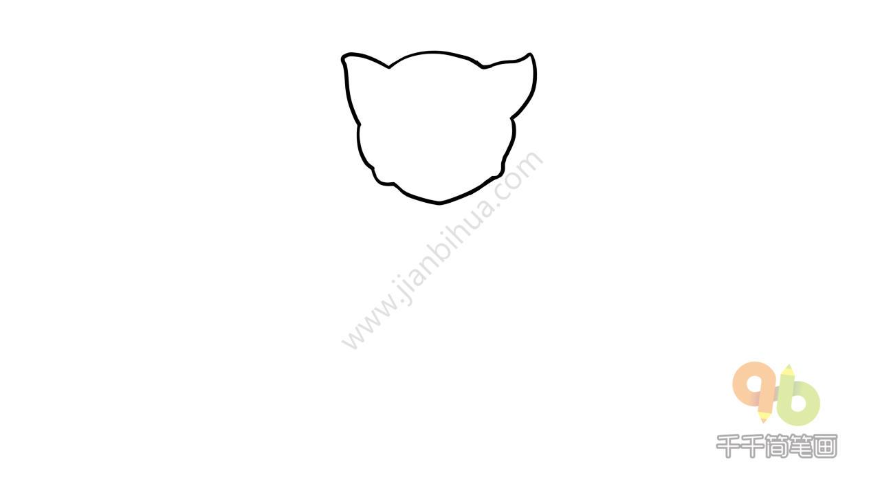 表情 会说话的汤姆猫简笔画 简约型文化普通难度 卡通动物 千千简笔画 表情