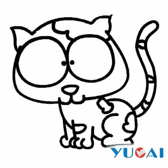表情 简笔画猫的画法 猫的画法 就要健康网 表情