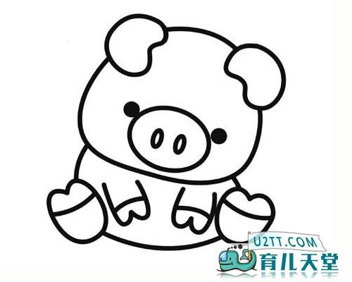 表情 小猪图片简笔画可爱,简笔画小猪头图片 动物简笔画 育儿天堂 表情