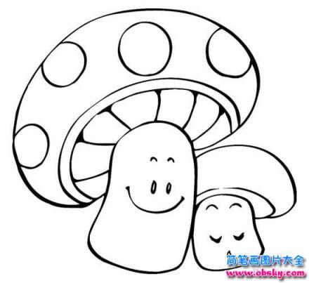 表情 怎么画卡通蘑菇简笔画 卡通简笔画 儿童简笔画图片大全 表情