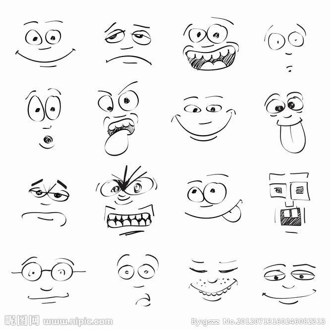 表情 简笔画表情符号图案 18张 3 表情图片 表白图片网 表情