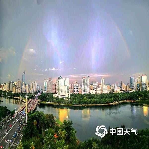 表情 活久见 广西南宁雨后惊现七彩祥云 图片 中国天气网 表情
