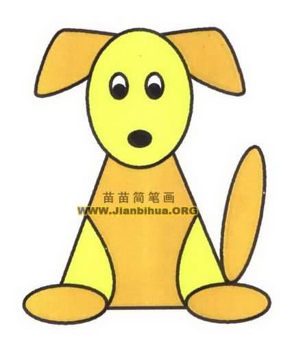 表情 卡通小狗简笔画图片教程 表情