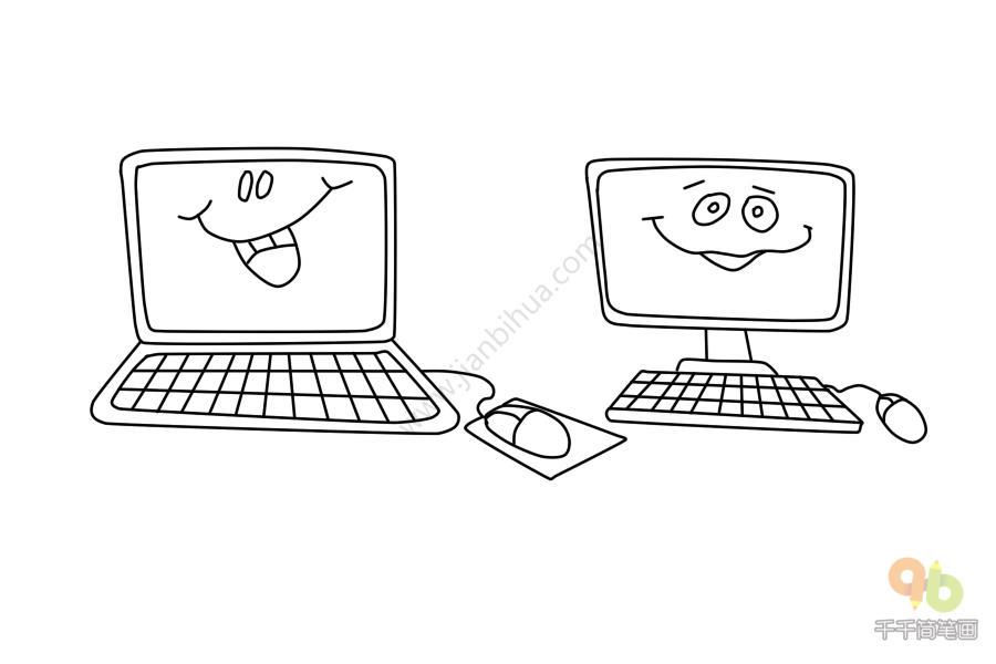 表情 搞怪的表情包电脑简笔画千千简笔画人人都能轻松画简笔画图片大全教程 表情