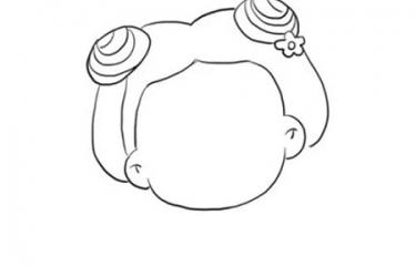 表情 花千骨简笔画步骤 q版花千骨简笔画图片 可爱卡通小骨简笔画的画法 亲亲  表情