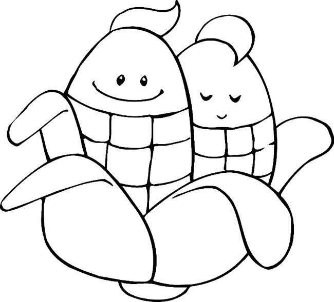 表情 卡通玉米蔬菜简笔画,绘画图片,儿童文艺 绘艺素材网 表情