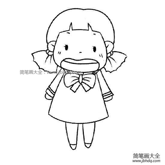 表情 唱歌的小女孩 小女孩简笔画 简笔画大全 表情