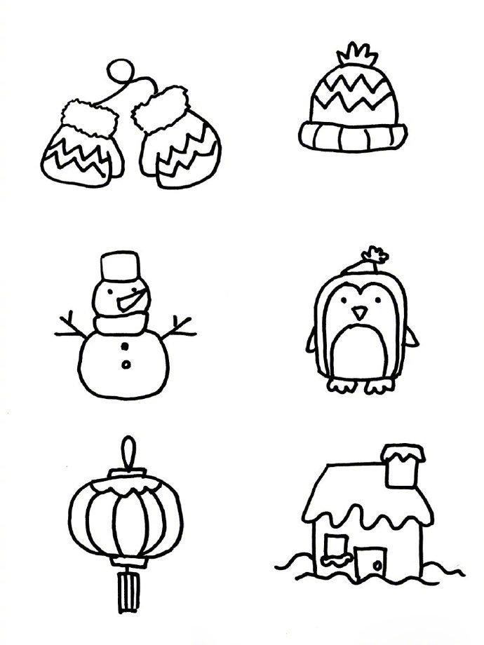 表情 冬天主题简笔画手帐素材 财经头条 表情