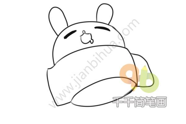表情 睡觉的兔子简笔画 简约型文化普通难度 陆地动物 千千简笔画 表情