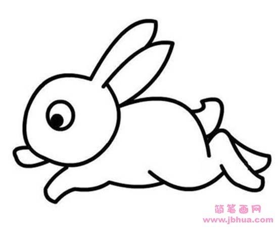 表情 少儿关于奔跑的小白兔简笔画图片大全 简笔画网 表情