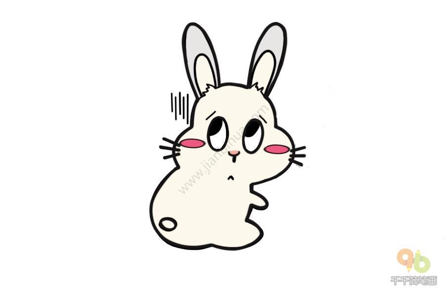 表情 兔兔一团黑线表情包简笔画千千简笔画人人都能轻松画简笔画图片大全教程 表情