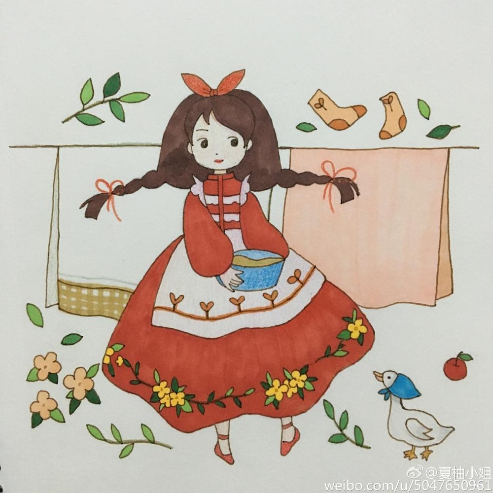表情 萌萌小公主彩铅简笔画 简约型文化普通难度 王子公主 千千简笔画