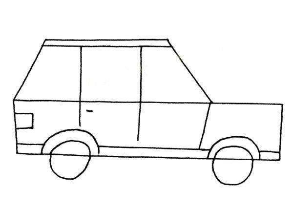 表情 简笔画小汽车的简单画法,绘画图片,儿童文艺 绘艺素材网 表情