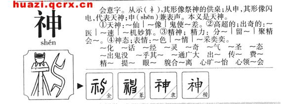 神的繁体字 神的笔顺笔画 神字部首和繁体字神的意思 表情