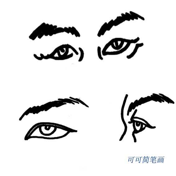 表情 人体五官简笔画 2 可可简笔画 表情