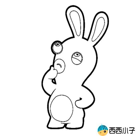 表情 疯狂的兔子简笔画 格格 表情
