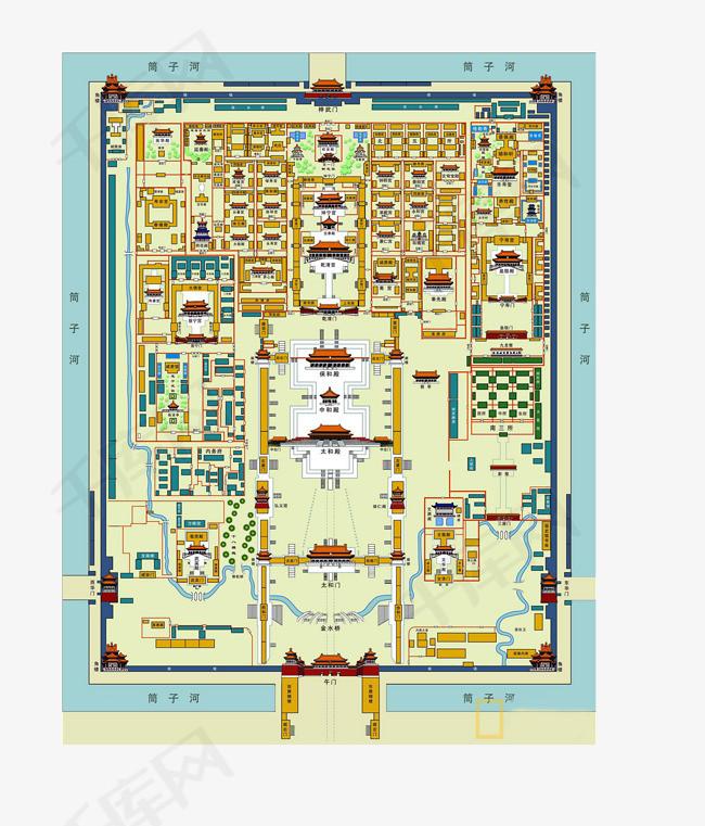 表情 北京故宫平面图简单图片 北京故宫平面图简单图片下载 表情