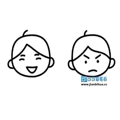表情 如何画人表情简笔画大全 表情包可爱简笔画小人 表情