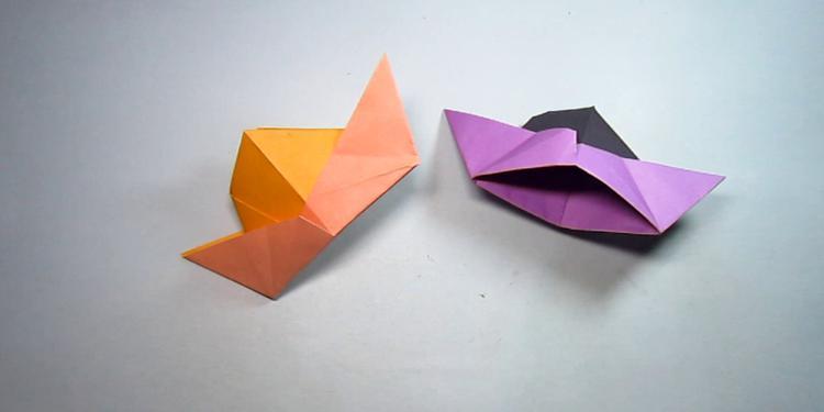 表情 儿童手工折纸帽子,2分钟就能轻松学会简单又可爱的帽子折法 网易视频 表情