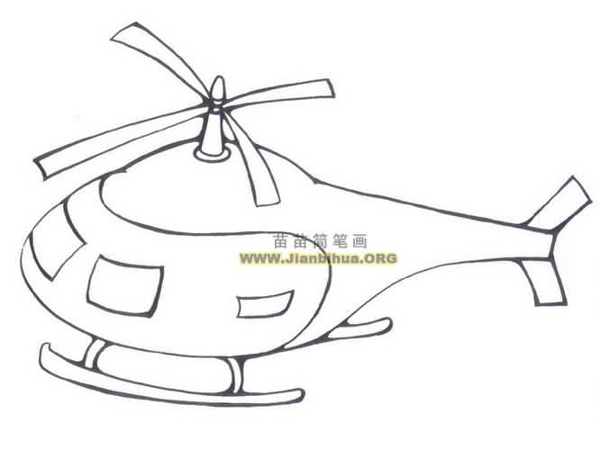 表情 直升飞机简笔画图片大全 表情