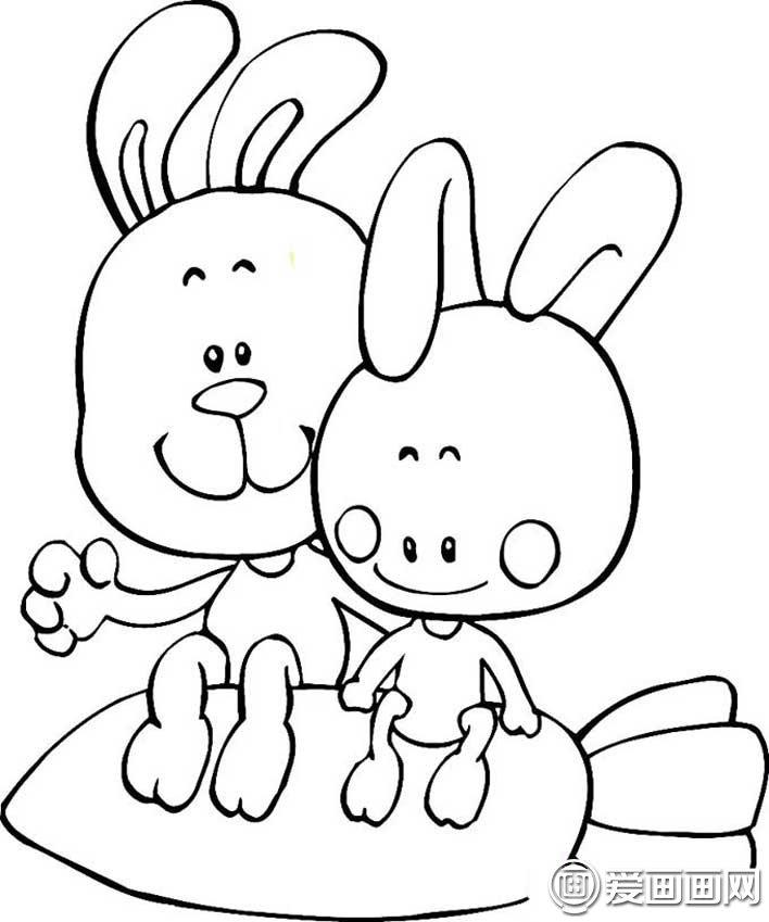 表情 可爱的兔子简笔画图片大全,15只各种各样的卡通简笔画兔子图片 2 龙轩  表情