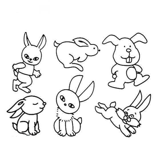 表情 几种小兔子的简单画法 兔子简笔画图片大全 育才简笔画 表情