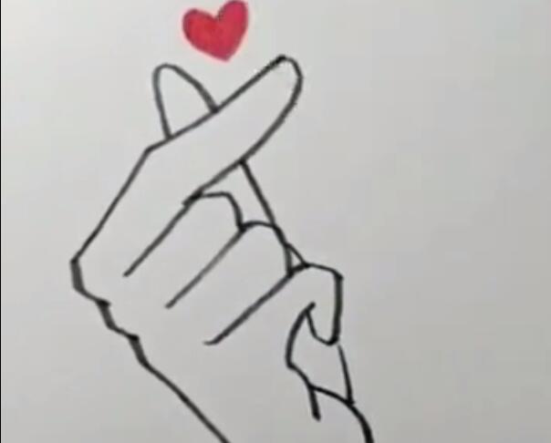 表情 比心简笔画怎么画 抖音短视频比心简笔画教程分享 游戏吧 表情图片