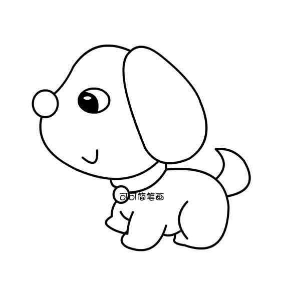 表情 可爱小狗简笔画 育才简笔画 表情
