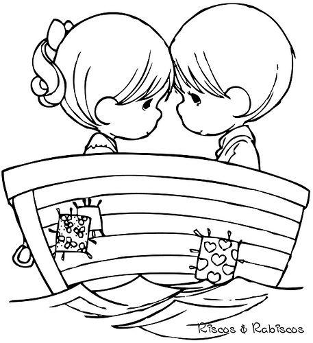表情 小男孩和小女孩q版超萌人物简笔画 人物简笔画 5068儿童网 表情