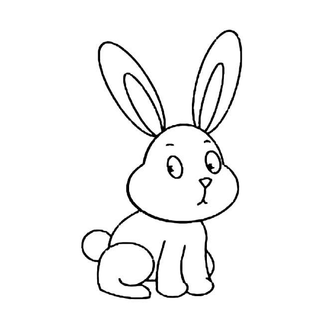 表情 兔子简笔画图片小逗汇智幼教网 表情