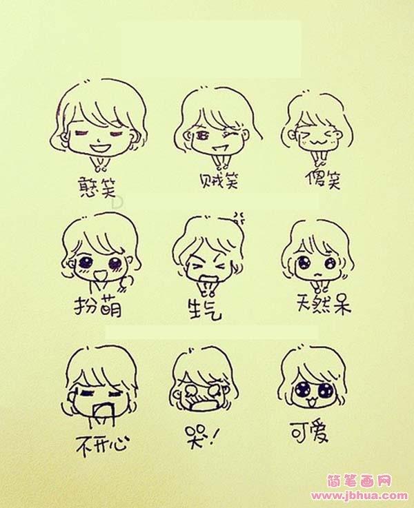 表情 简笔表情图片大全可爱图片 8张 2 可爱图片 表白图片网 表情
