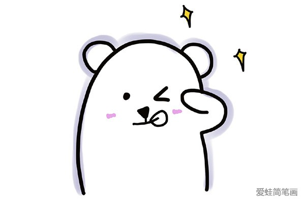 表情 暖暖的手指小熊调皮表情图片 小熊 简笔画大全 表情