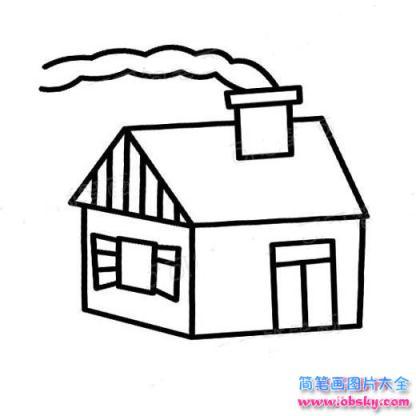 表情 怎么画儿童烟囱房子简笔画的教程 简笔画房子 儿童简笔画图片大全 表情