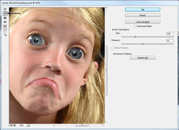 表情 夸张表情,制作搞笑的哈哈镜特效 恶搞图片 photoshop教程 表情