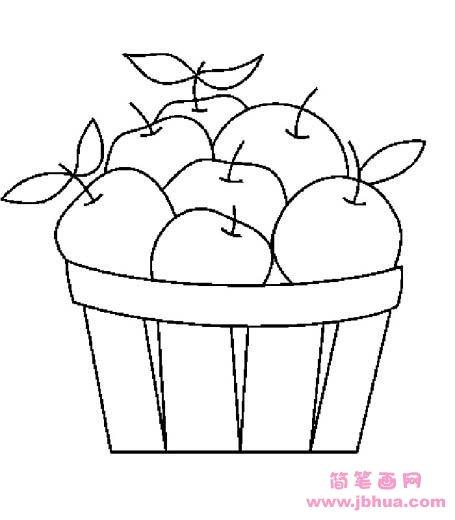 表情 苹果简笔画 一筐苹果 简笔画网 表情