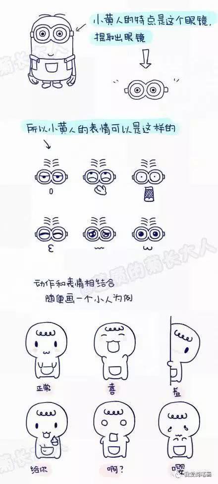 表情 Q版 乾货收藏 1000个可爱的手绘小表情,分享给想学简笔画和喜欢做  表情