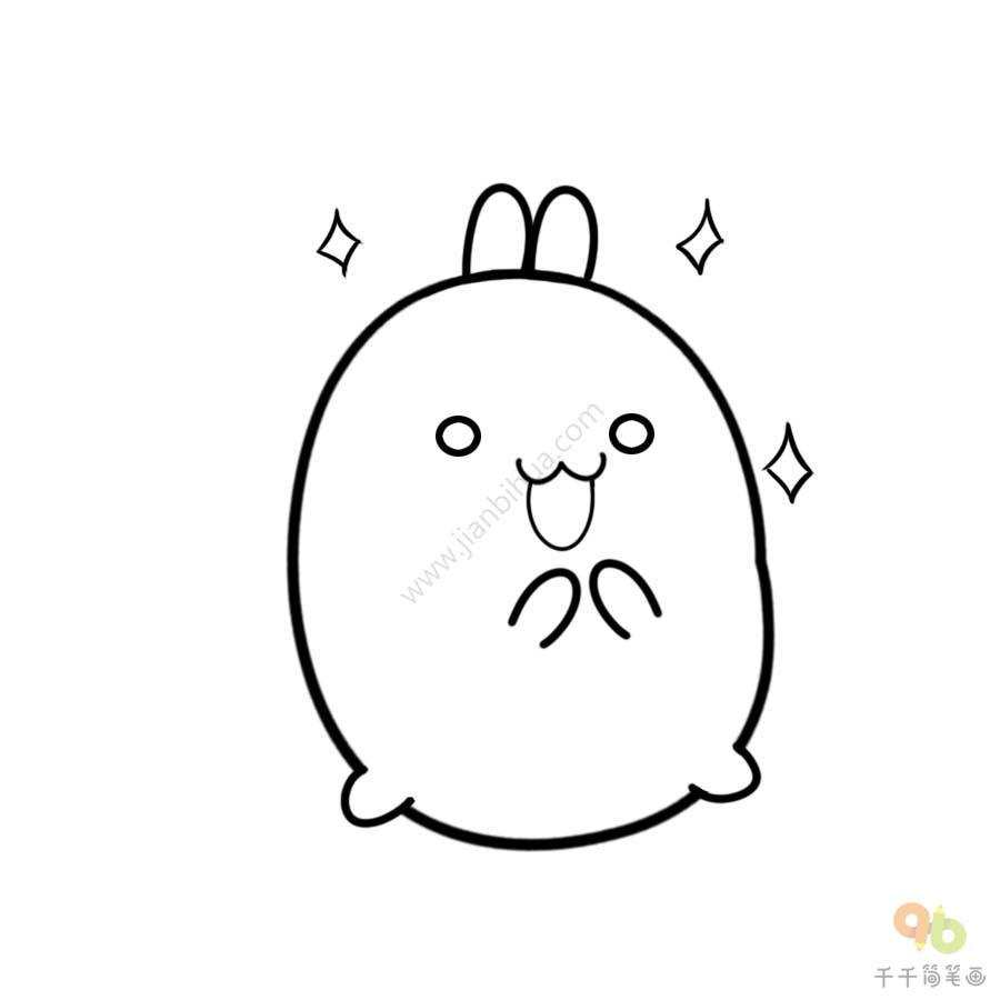 表情 土豆兔期待表情包 表情包 千千简笔画 表情