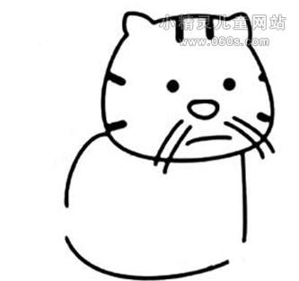 表情 幼儿园动物简笔画教案 小猫忧伤的表情 小精灵儿童网站 表情