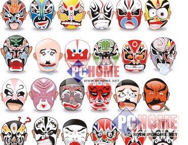 表情 qq表情脸谱gif 川剧8张脸谱代表人物 脸谱简笔画绘画 昆曲脸谱 游戏屋 表情