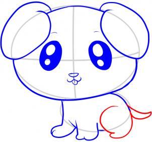 表情 小狗窗花的剪法步骤图 图片大全 表情
